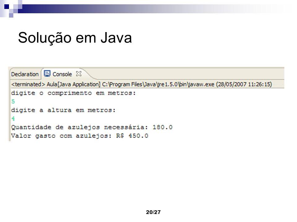 Solução em Java