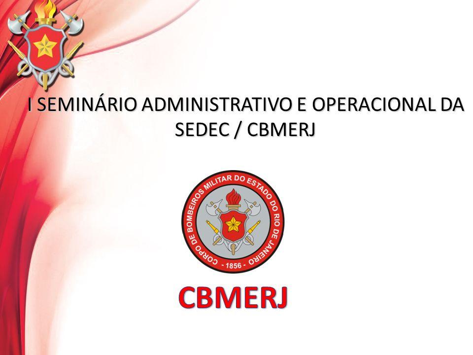 I SEMINÁRIO ADMINISTRATIVO E OPERACIONAL DA