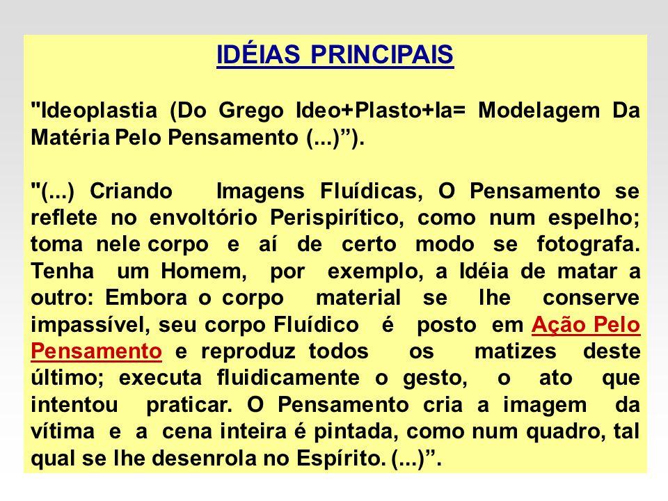 IDÉIAS PRINCIPAIS Ideoplastia (Do Grego Ideo+Plasto+Ia= Modelagem Da Matéria Pelo Pensamento (...) ).