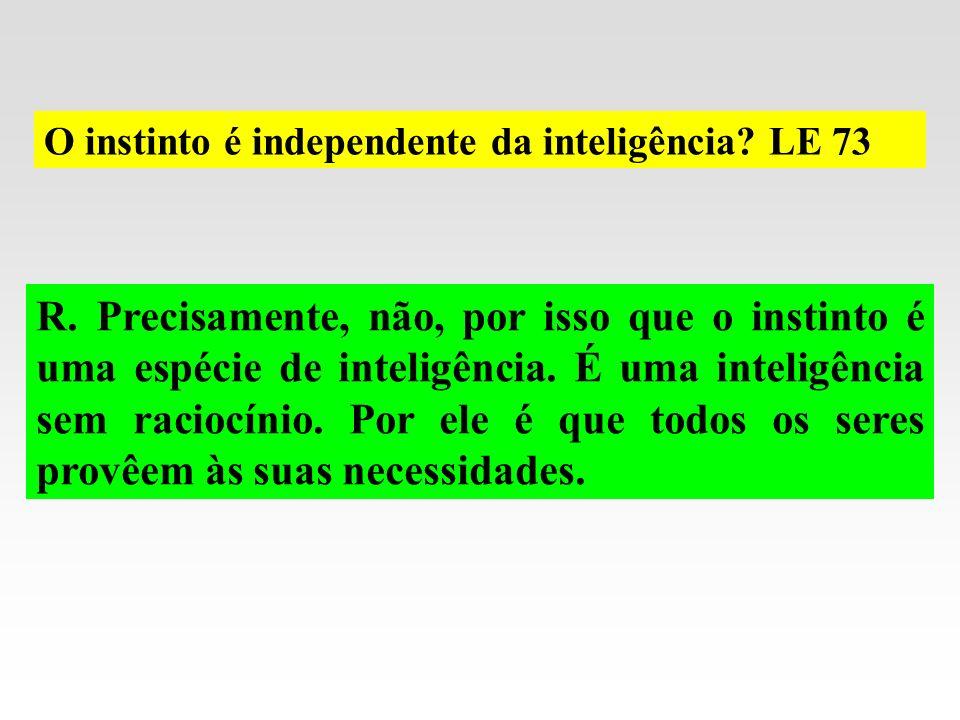 O instinto é independente da inteligência LE 73