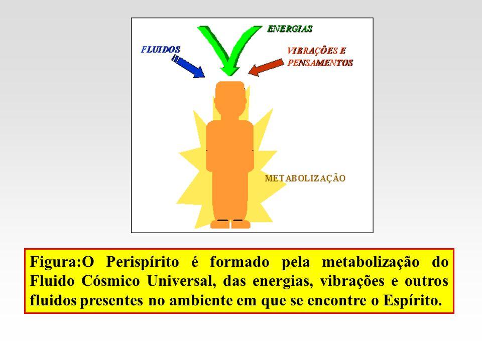 Figura:O Perispírito é formado pela metabolização do Fluido Cósmico Universal, das energias, vibrações e outros fluidos presentes no ambiente em que se encontre o Espírito.