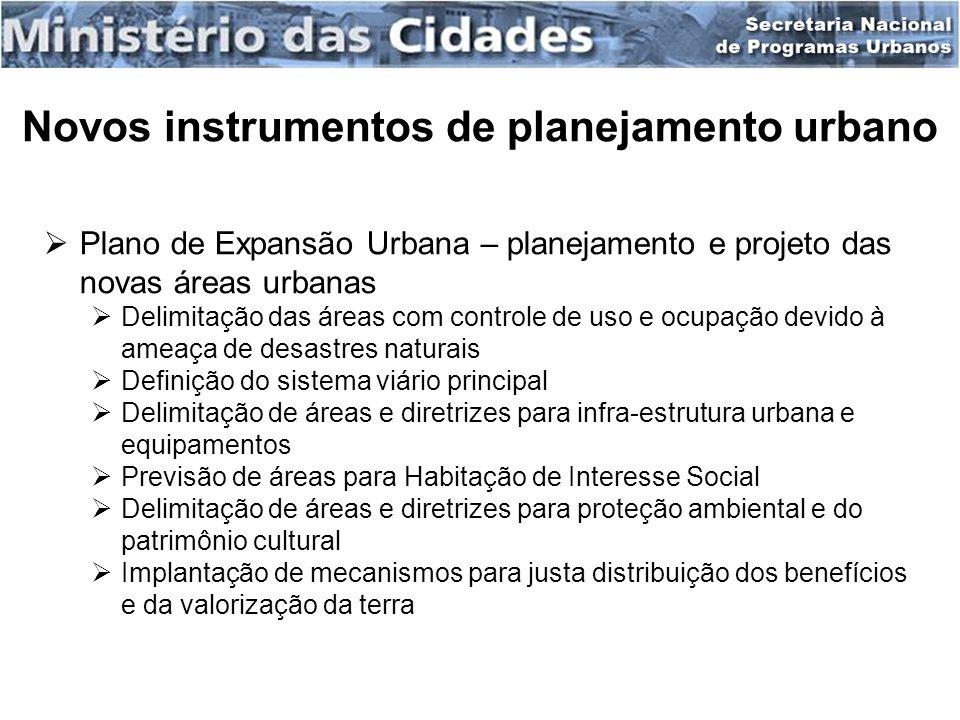 Novos instrumentos de planejamento urbano