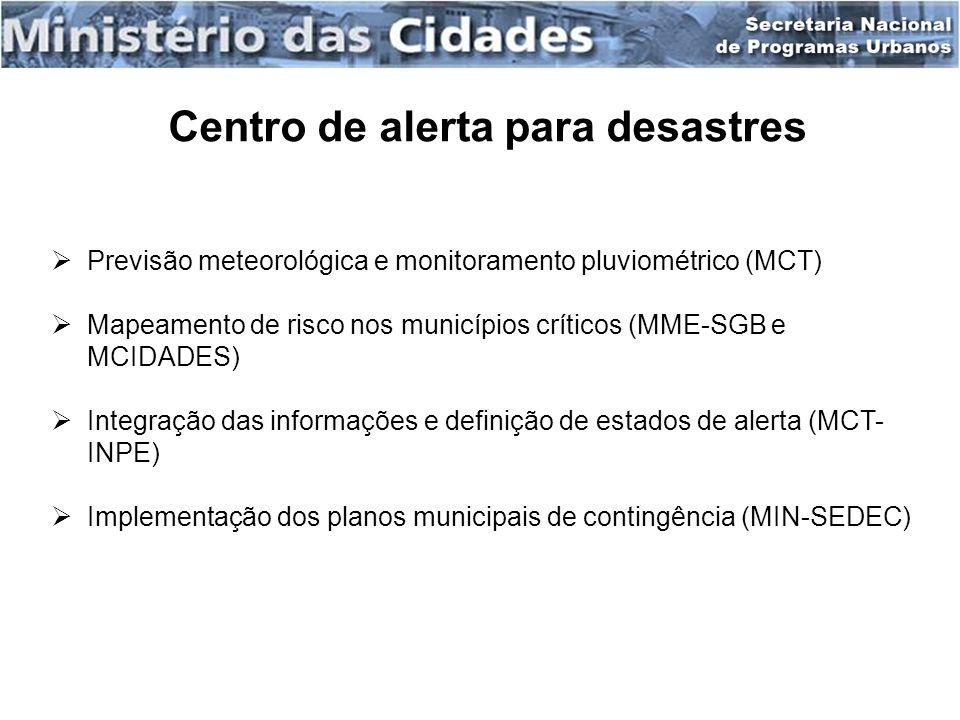 Centro de alerta para desastres