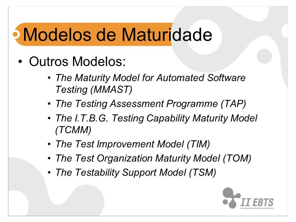 Modelos de Maturidade Outros Modelos: