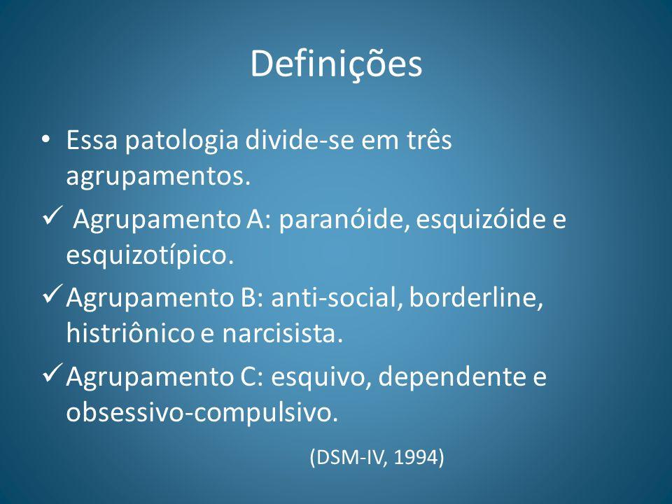 Definições Essa patologia divide-se em três agrupamentos.