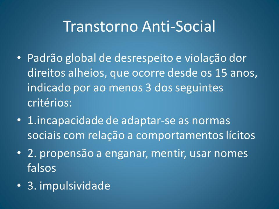 Transtorno Anti-Social