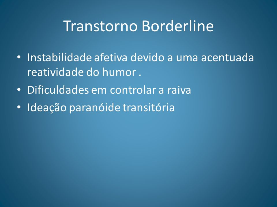 Transtorno Borderline