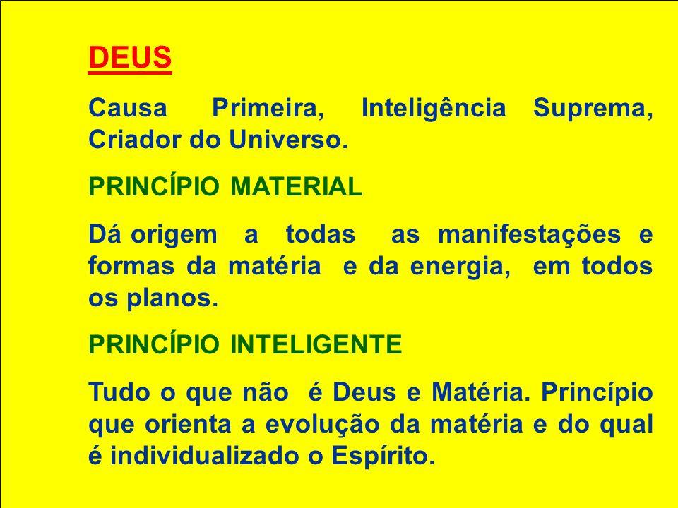 DEUS Causa Primeira, Inteligência Suprema, Criador do Universo.