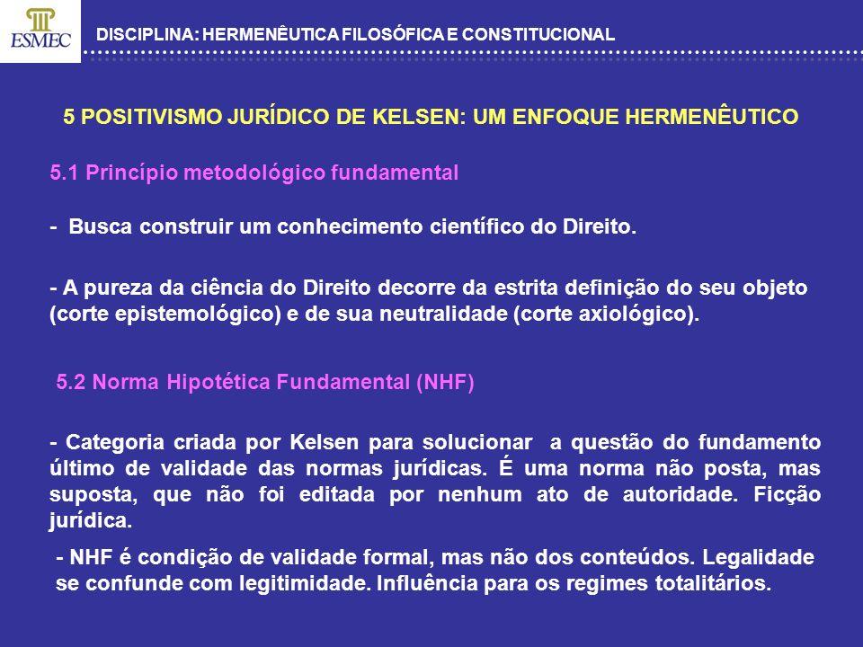 5 POSITIVISMO JURÍDICO DE KELSEN: UM ENFOQUE HERMENÊUTICO