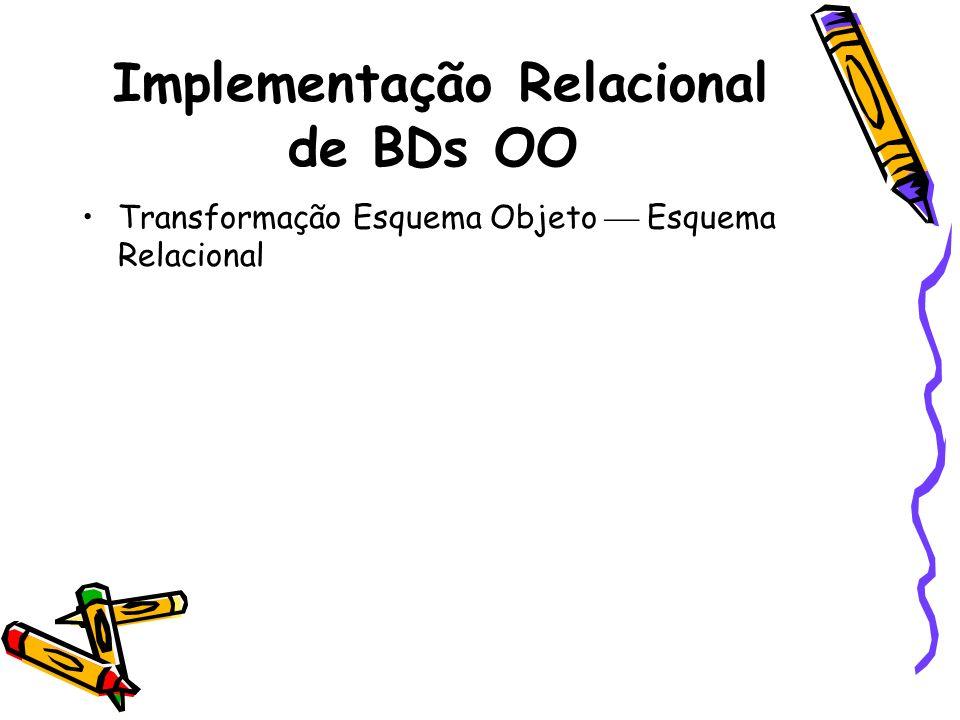 Implementação Relacional de BDs OO