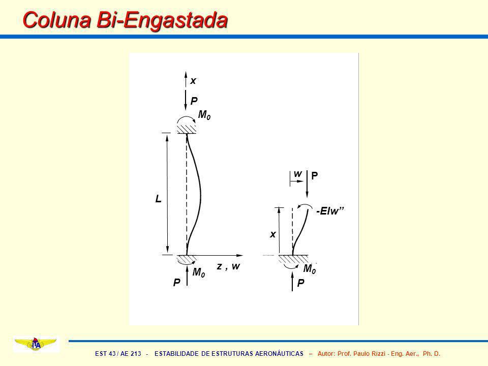 Coluna Bi-Engastada P M0 w x L z , w -EIw