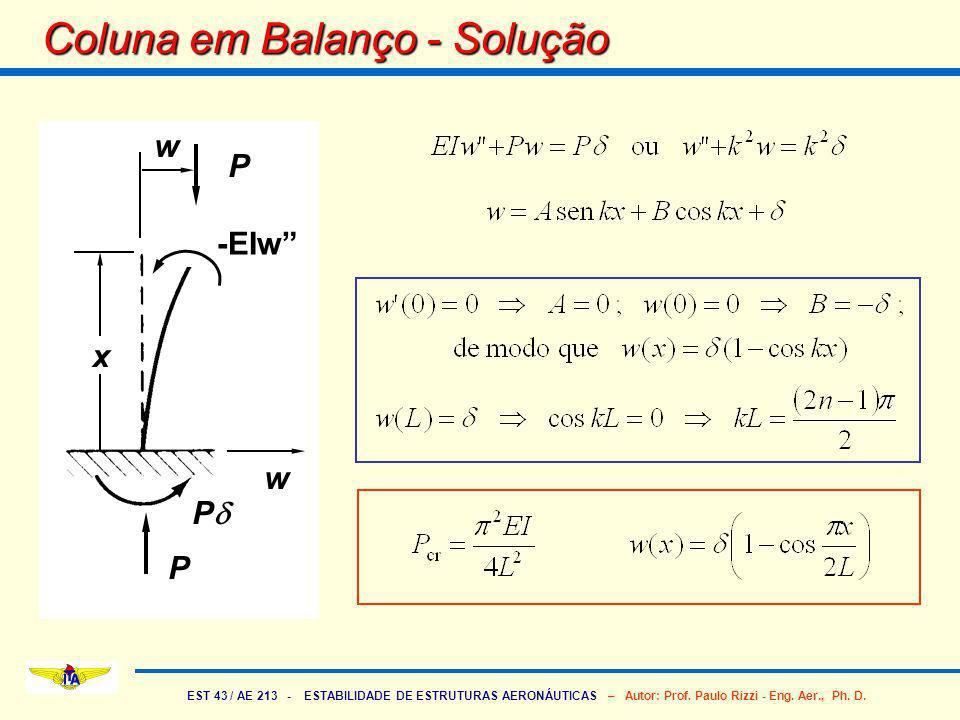 Coluna em Balanço - Solução