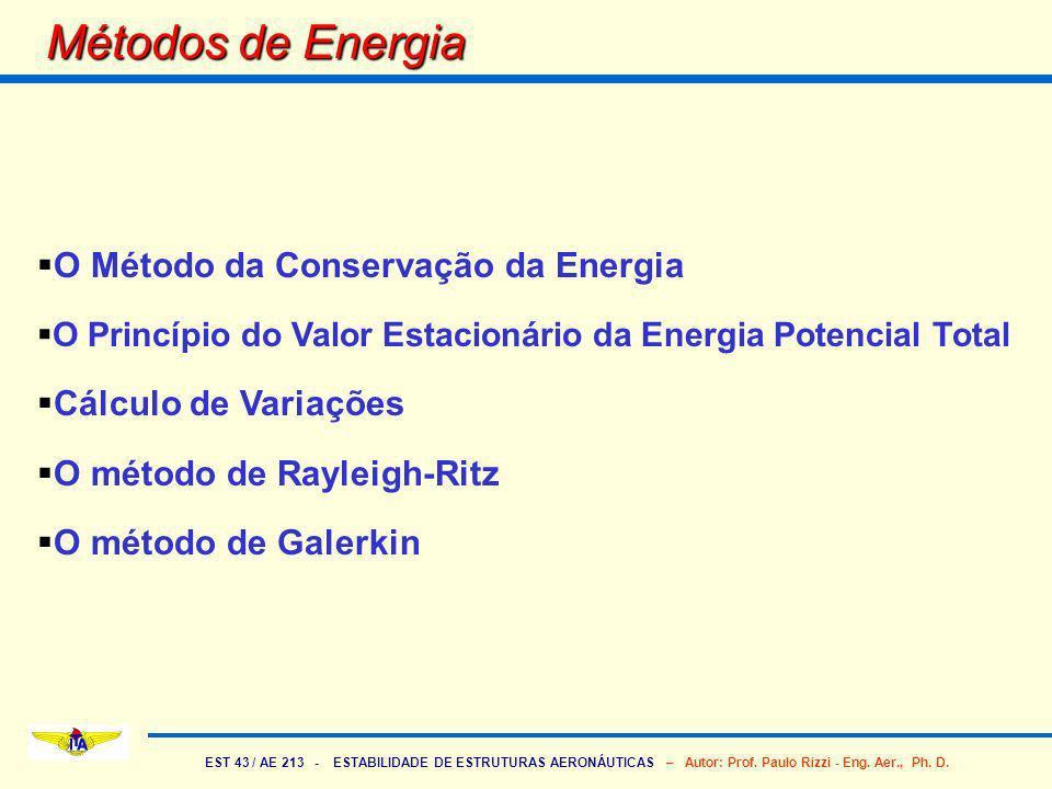 Métodos de Energia O Método da Conservação da Energia