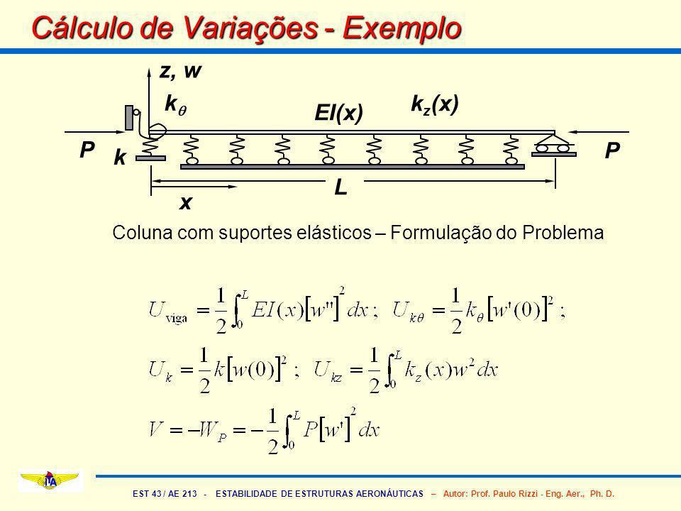 Cálculo de Variações - Exemplo