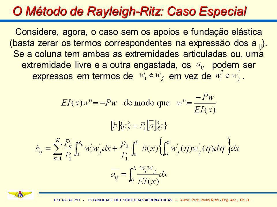 O Método de Rayleigh-Ritz: Caso Especial
