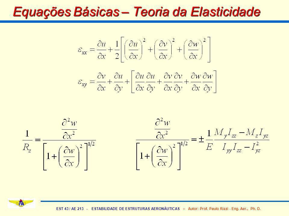 Equações Básicas – Teoria da Elasticidade