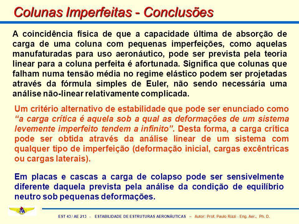 Colunas Imperfeitas - Conclusões