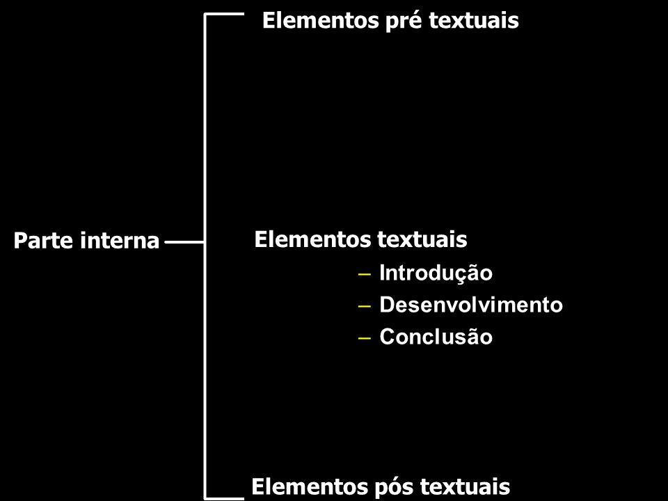 Elementos pré textuais