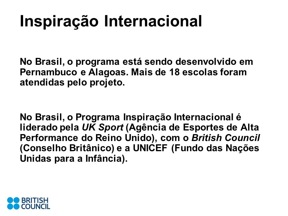 Inspiração Internacional