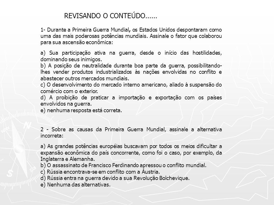 REVISANDO O CONTEÚDO......