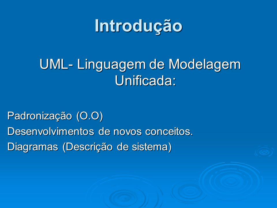 UML- Linguagem de Modelagem Unificada: