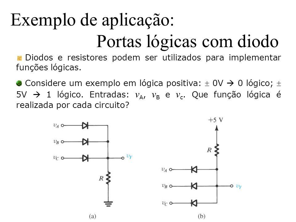 Exemplo de aplicação: Portas lógicas com diodo