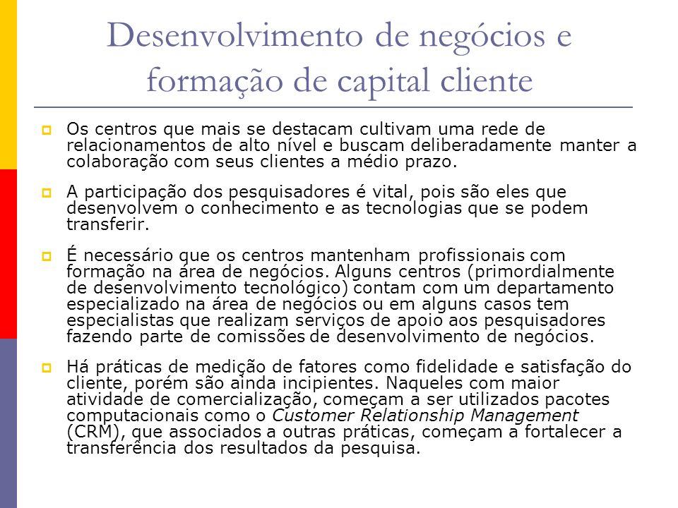 Desenvolvimento de negócios e formação de capital cliente