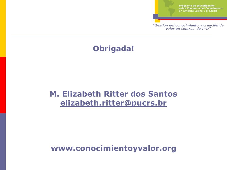 M. Elizabeth Ritter dos Santos elizabeth.ritter@pucrs.br