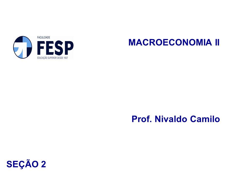MACROECONOMIA II Prof. Nivaldo Camilo SEÇÃO 2