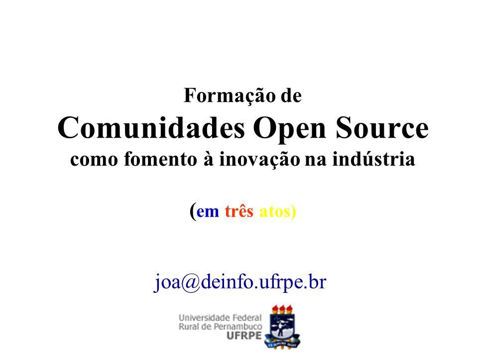 Formação de Comunidades Open Source como fomento à inovação na indústria (em três atos)
