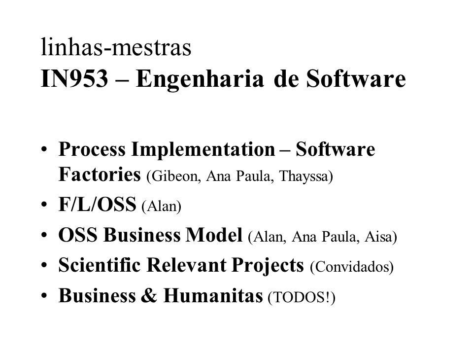 linhas-mestras IN953 – Engenharia de Software