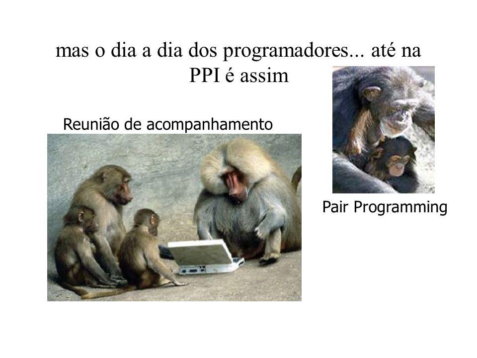 mas o dia a dia dos programadores... até na PPI é assim