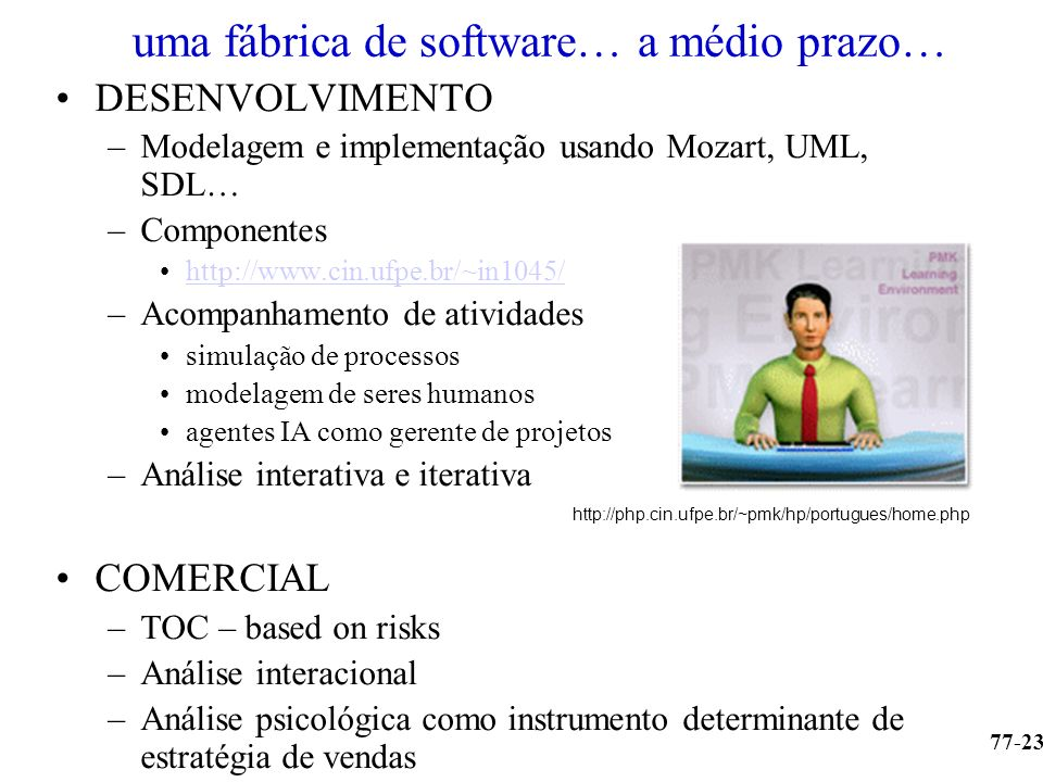 uma fábrica de software… a médio prazo…