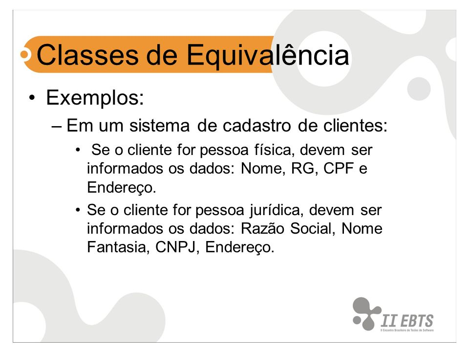 Classes de Equivalência