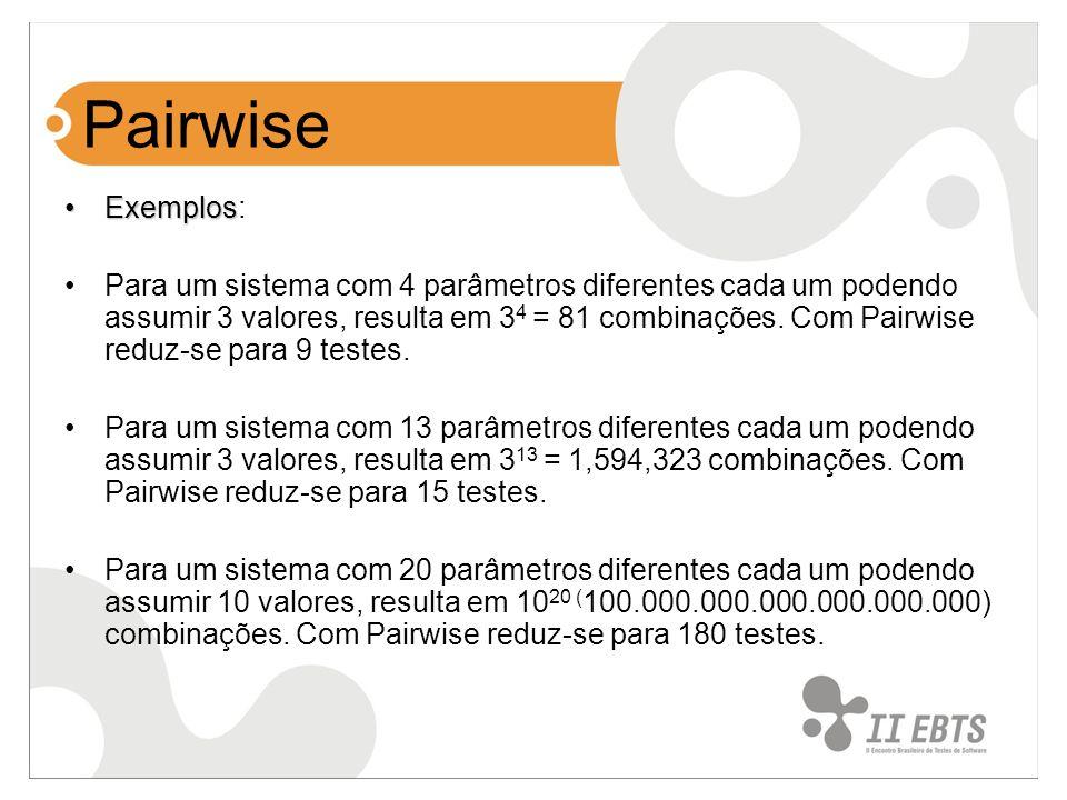 Pairwise Exemplos: