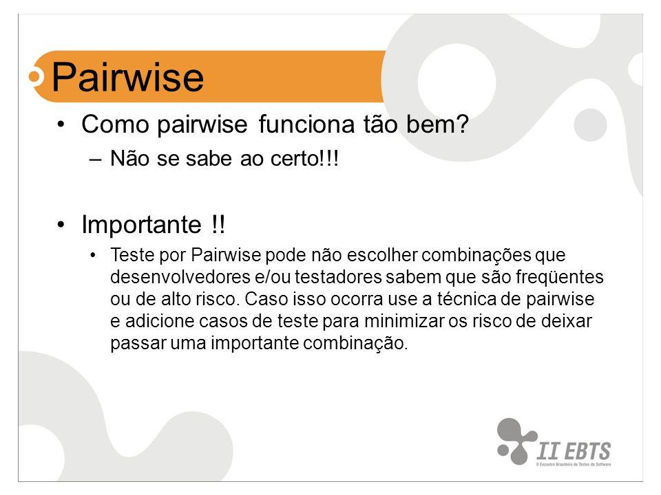 Pairwise Como pairwise funciona tão bem Importante !!
