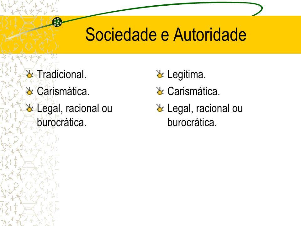 Sociedade e Autoridade