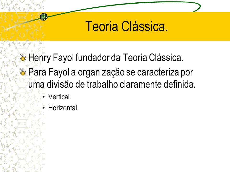 Teoria Clássica. Henry Fayol fundador da Teoria Clássica.