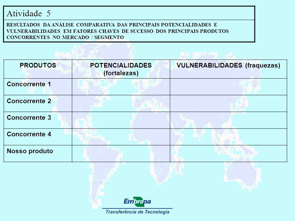 POTENCIALIDADES (fortalezas) VULNERABILIDADES (fraquezas)