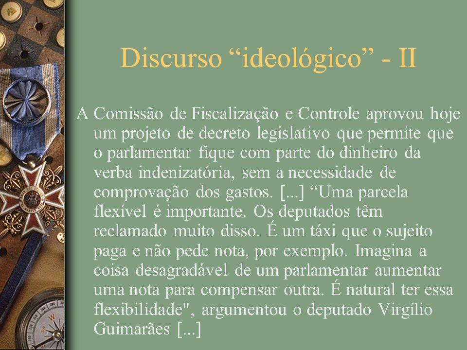 Discurso ideológico - II