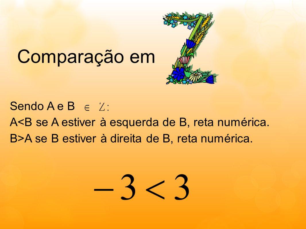 Comparação em Sendo A e B