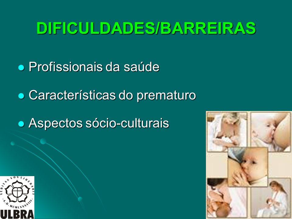 DIFICULDADES/BARREIRAS