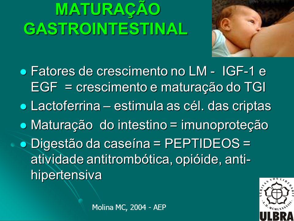 MATURAÇÃO GASTROINTESTINAL