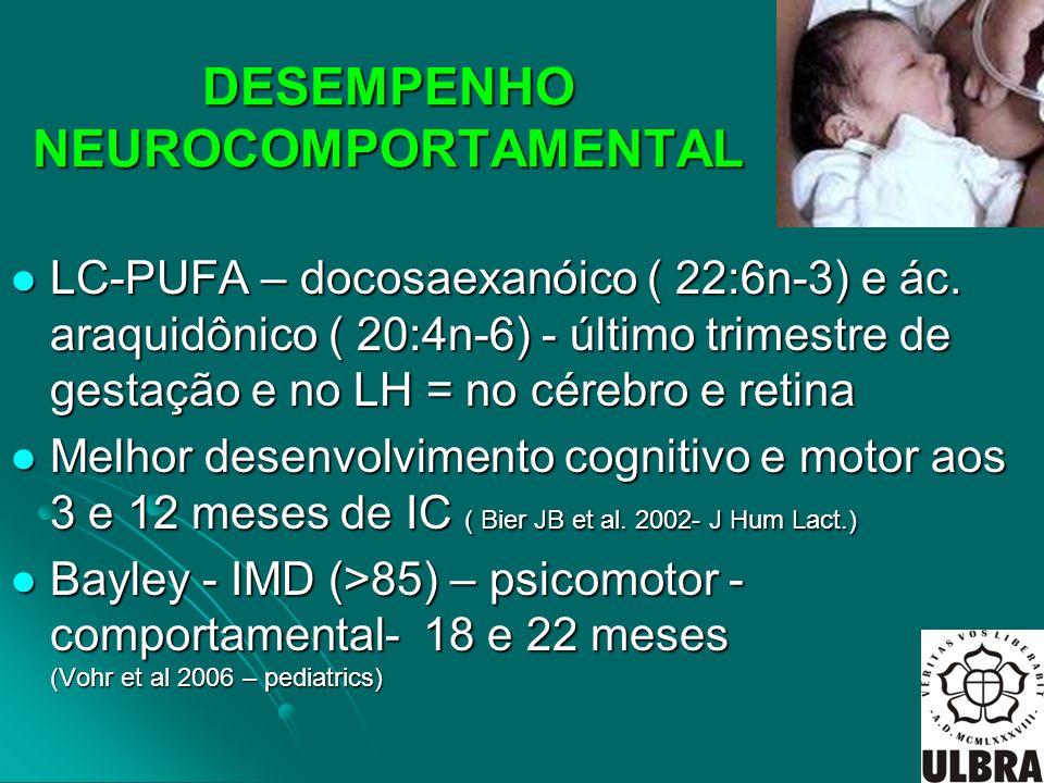 DESEMPENHO NEUROCOMPORTAMENTAL