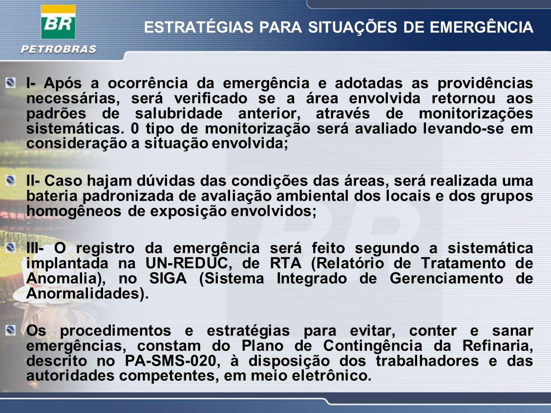 ESTRATÉGIAS PARA SITUAÇÕES DE EMERGÊNCIA