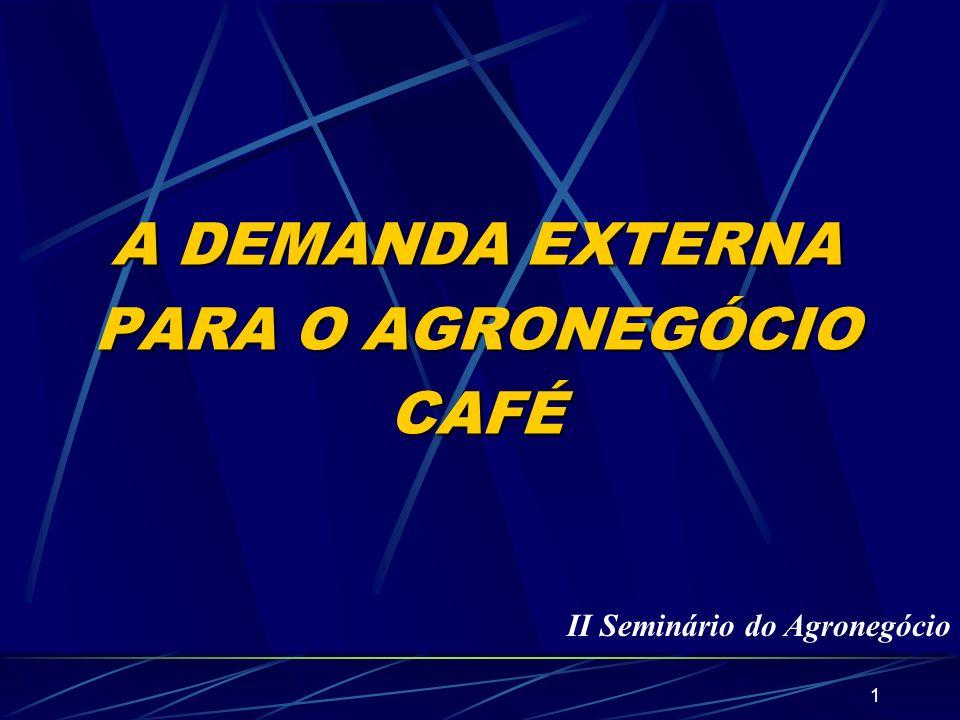 A DEMANDA EXTERNA PARA O AGRONEGÓCIO CAFÉ