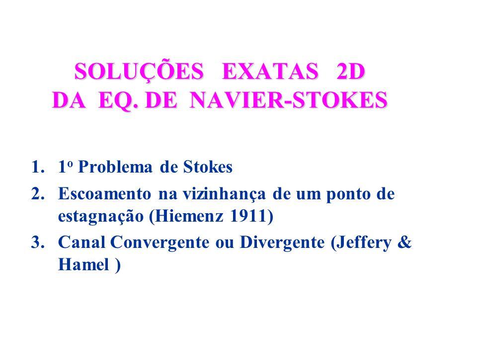 SOLUÇÕES EXATAS 2D DA EQ. DE NAVIER-STOKES