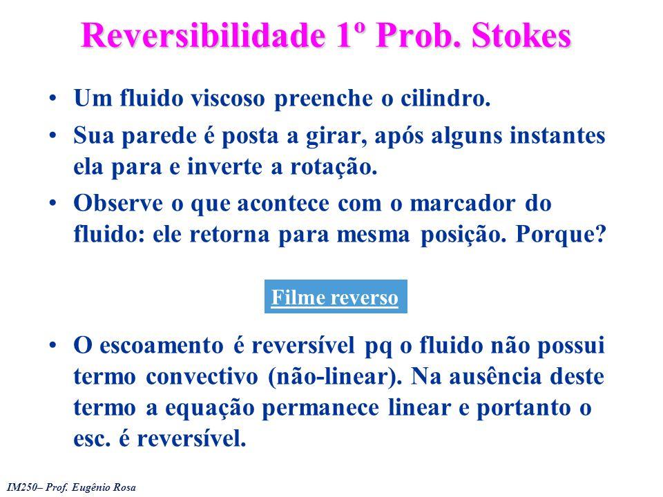 Reversibilidade 1º Prob. Stokes