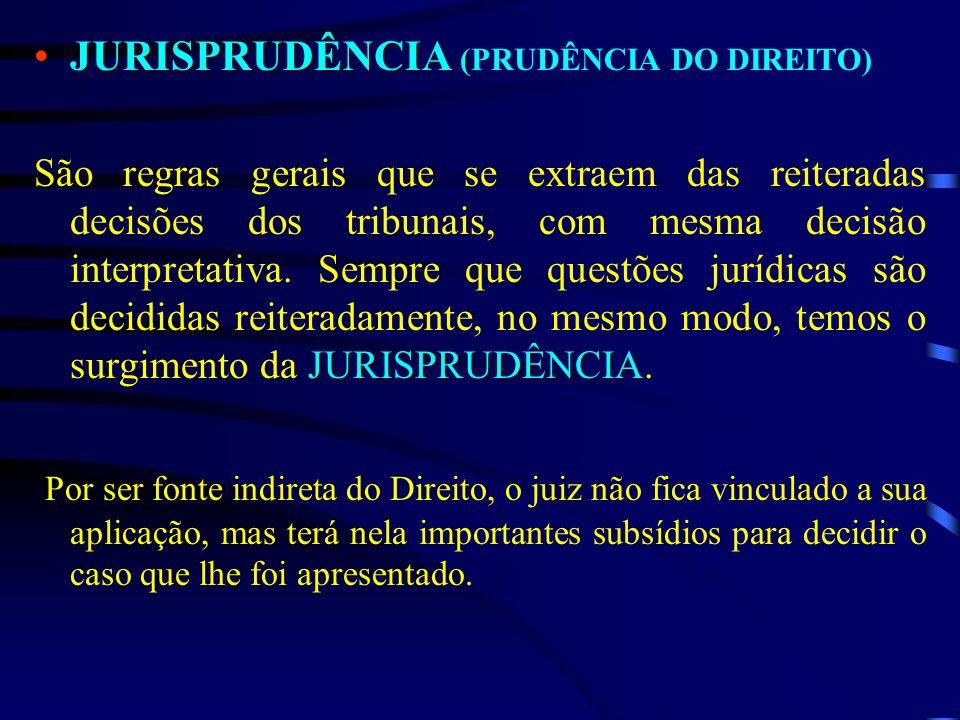 JURISPRUDÊNCIA (PRUDÊNCIA DO DIREITO)