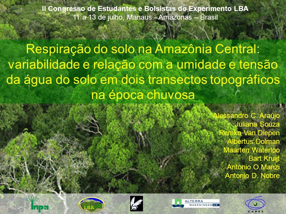 II Congresso de Estudantes e Bolsistas do Experimento LBA 11 a 13 de julho, Manaus - Amazonas – Brasil